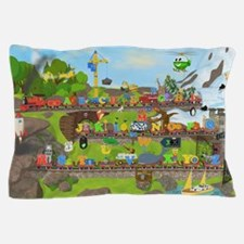Alphabet Train Poster, 36x24, Two Obje Pillow Case