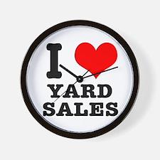 I Heart (Love) Yard Sales Wall Clock