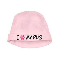 I Heart My Pug baby hat