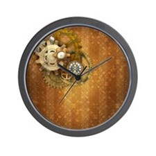Steam Dreams: Gears Wall 2 Wall Clock