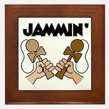 brown Jammin Framed Tile