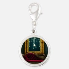 Steam Dreams: Chaise and Frame Silver Round Charm