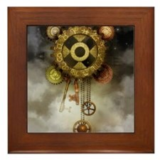Steam Dreams: Sky Clock Framed Tile
