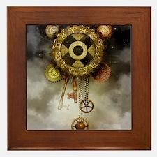 Steam Dreams: Sky Clock Framed Tile