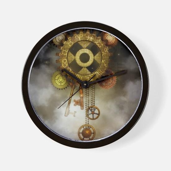 Steam Dreams: Sky Clock Wall Clock