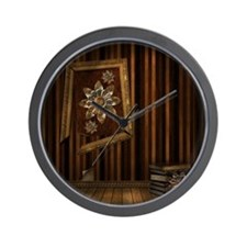 Steam Dreams: Picture Frame  Books Wall Clock