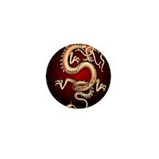 Lucky Chinese Dragon Mini Button
