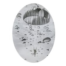 Vintage Paratrooper Oval Ornament