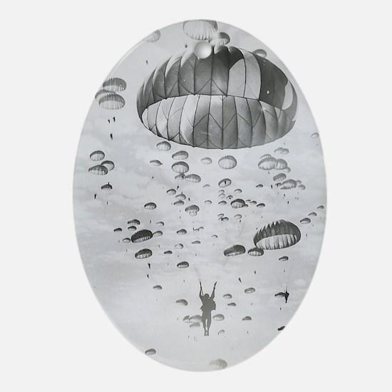 Vintage Paratrooper Oval Ornament