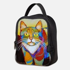 Cat-of-Many-Colors Neoprene Lunch Bag