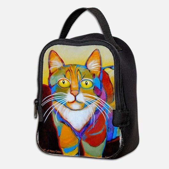 Cat-of-Many-Colors Neoprene Lunch Bag