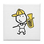 Boy & Baritone Tile Coaster