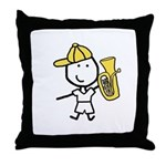 Boy & Baritone Throw Pillow