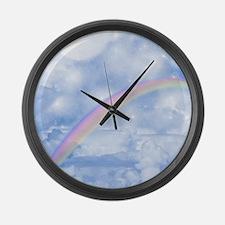 rb_queen_duvet_2 Large Wall Clock