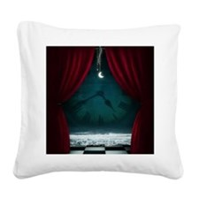 Steam Dreams: Surreal Clock S Square Canvas Pillow