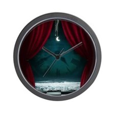 Steam Dreams: Surreal Clock Scene Wall Clock