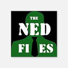 "Reverse NED logo Square Sticker 3"" x 3"""