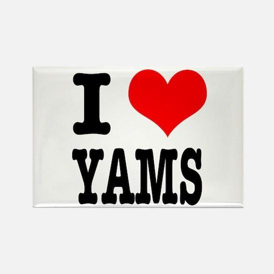 I Heart (Love) Yams Rectangle Magnet