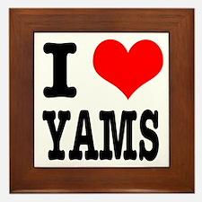 I Heart (Love) Yams Framed Tile