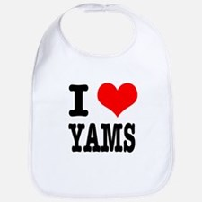 I Heart (Love) Yams Bib