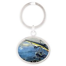 2001 Sweden Ultralight Aircraft Post Oval Keychain