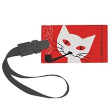Pipe Cat Luggage Tag