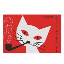 Pipe Cat Postcards (Package of 8)