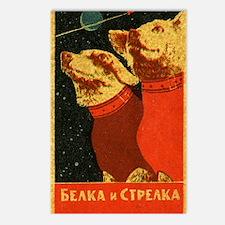 Belka and Strelka Postcards (Package of 8)
