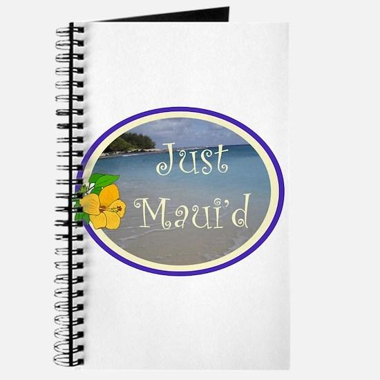 Just Maui'd Beach Logo Journal