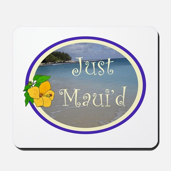 Just Maui'd Beach Logo Mousepad