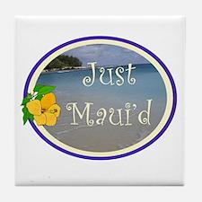 Just Maui'd Beach Logo Tile Coaster