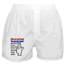 Prostrate Warning Boxer Shorts