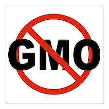 """No GMO! Square Car Magnet 3"""" x 3"""""""