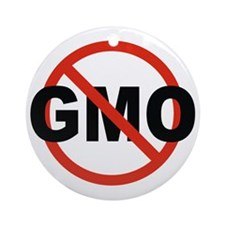 No GMO! Round Ornament