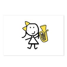 Girl & Baritone Postcards (Package of 8)