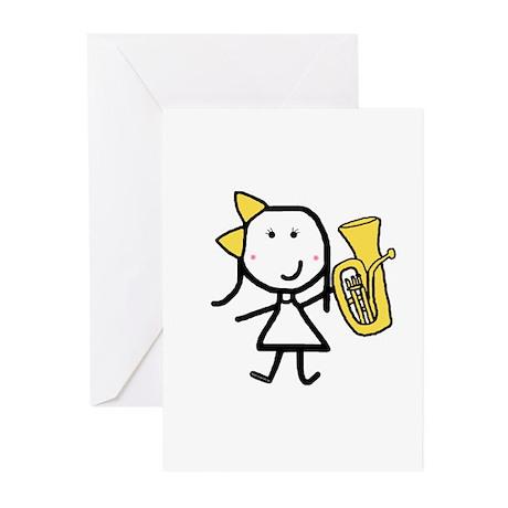Girl & Baritone Greeting Cards (Pk of 10)