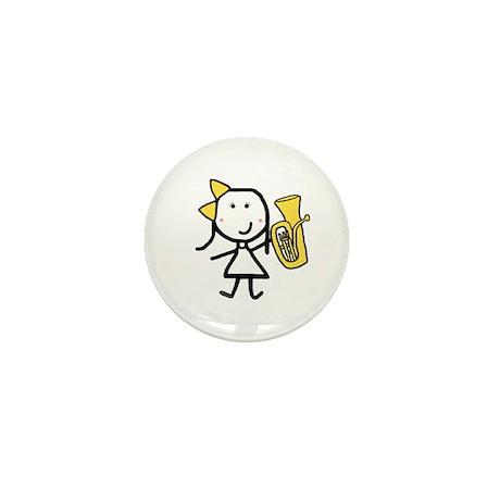 Girl & Baritone Mini Button