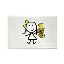 Girl & Baritone Rectangle Magnet