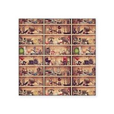 "Toy Shelves Square Sticker 3"" x 3"""