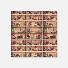 "Toy Shelves Square Sticker 3"" x 3"""