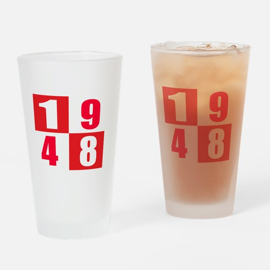 Made In 1948 designs Drinking Glass