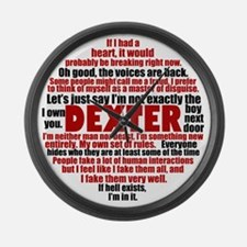 dexterquotesbutton Large Wall Clock