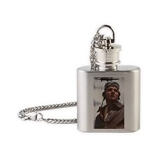 Pilot and his biplane Flask Necklace