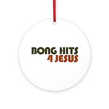 Bong Hits 4 Jesus Ornament (Round)