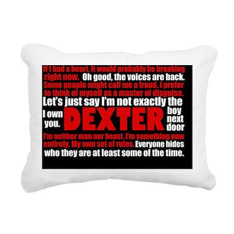 dexterquotecard Rectangular Canvas Pillow