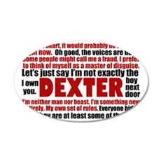 dexterquotescard 35x21 Oval Wall Decal