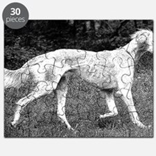 Saluki Wooded Stroll - Pen and Ink Puzzle