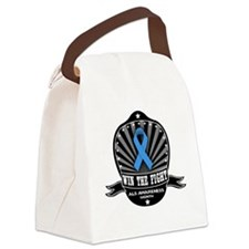 ALS Awareness - Win The Fight! Canvas Lunch Bag