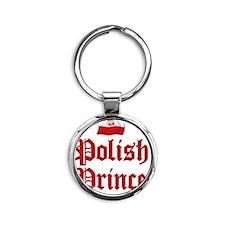 Polish Prince 2 Round Keychain
