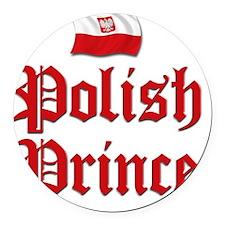 Polish Prince 2 Round Car Magnet